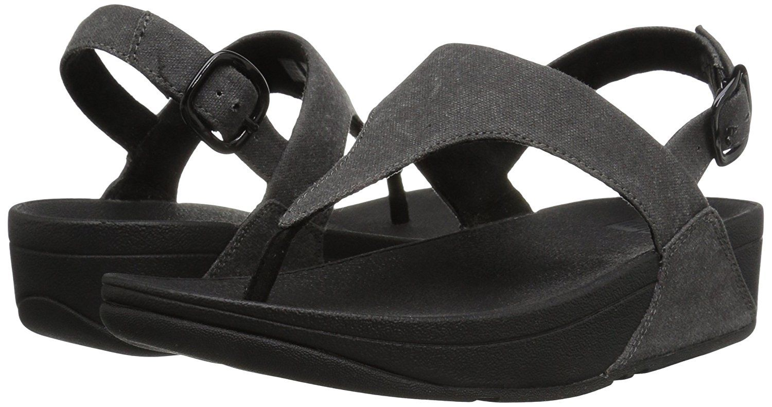 a8389e36746 FitFlop Women s The Skinny Toe Thong Sandal in Canvas Flip Flop   Click  image to review