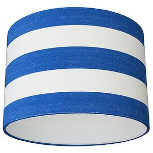 Blue And White Elberry Deckchair Stripe Lampshade Kids