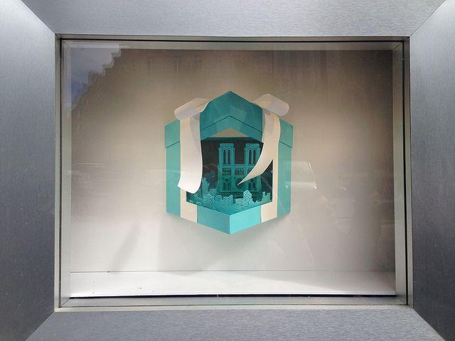 Vitrines Tiffany&Co sur les Champs Elysées - Paris