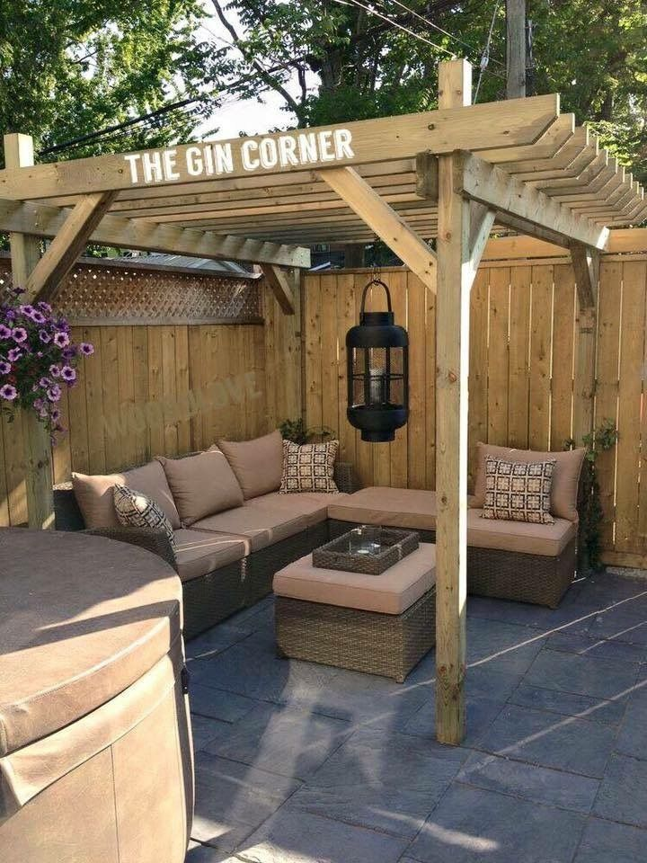 I would love a gin corner home backyard seating small - Garden patio ideas pictures ...