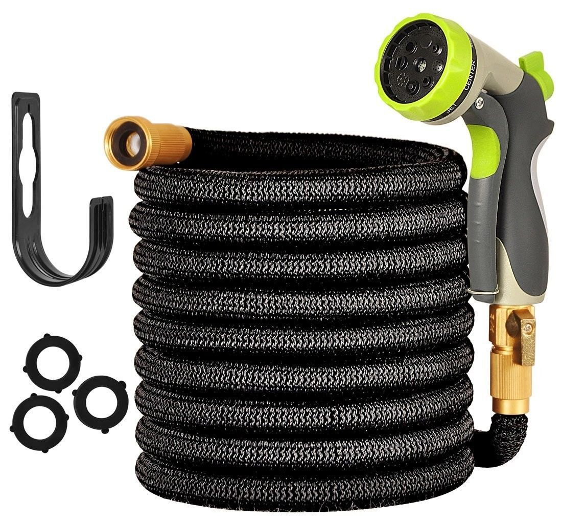 Expandable Garden Hose 50 ft Water Hose 8 Pattern Spray
