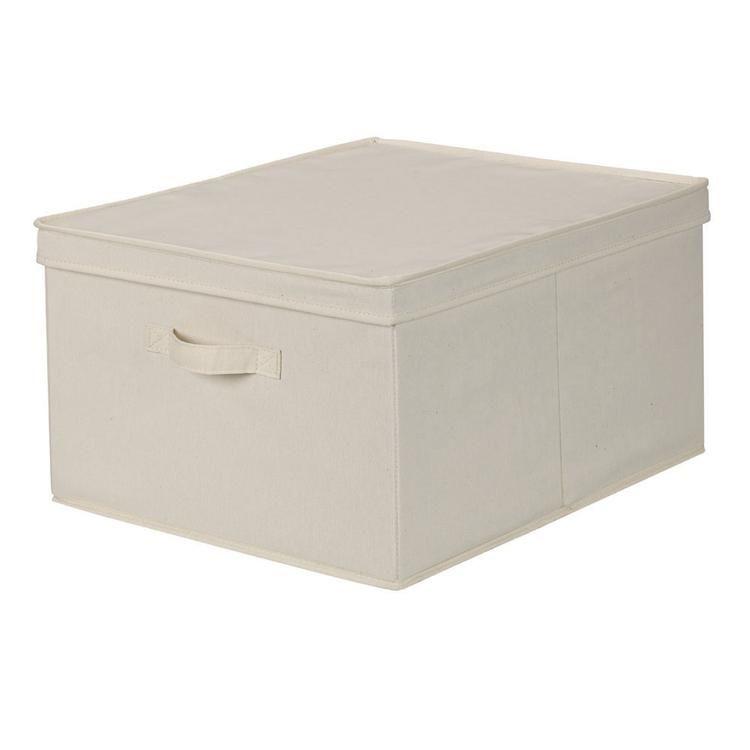 Jumbo Canvas Storage Box With Lid