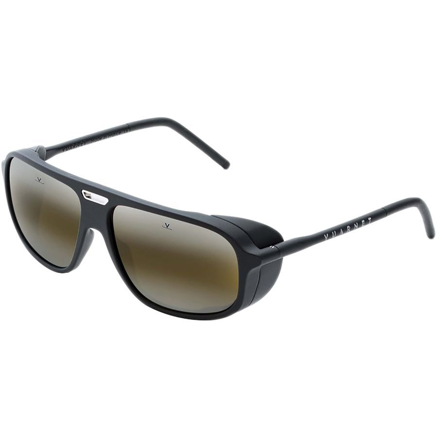 c2c667b78cc Vuarnet - Ice Rectangular Sunglasses - Matt Black Ruthenium Metal  Insert Black Pure
