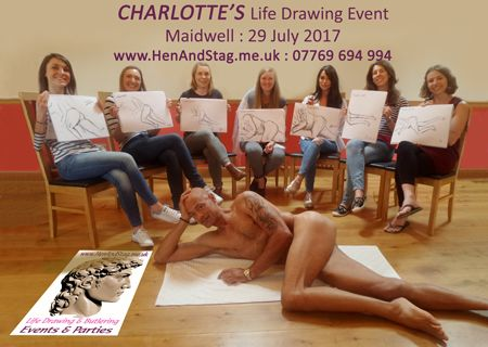 "Out in the ""Wilds"" of Northampton - CHARLOTTE enjoyed a great Life Drawing Session with us!!"