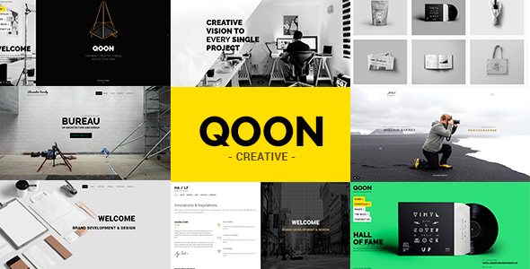 QOON v1.0.5 – Creative Portfolio & Agency WordPress Theme | Template ...