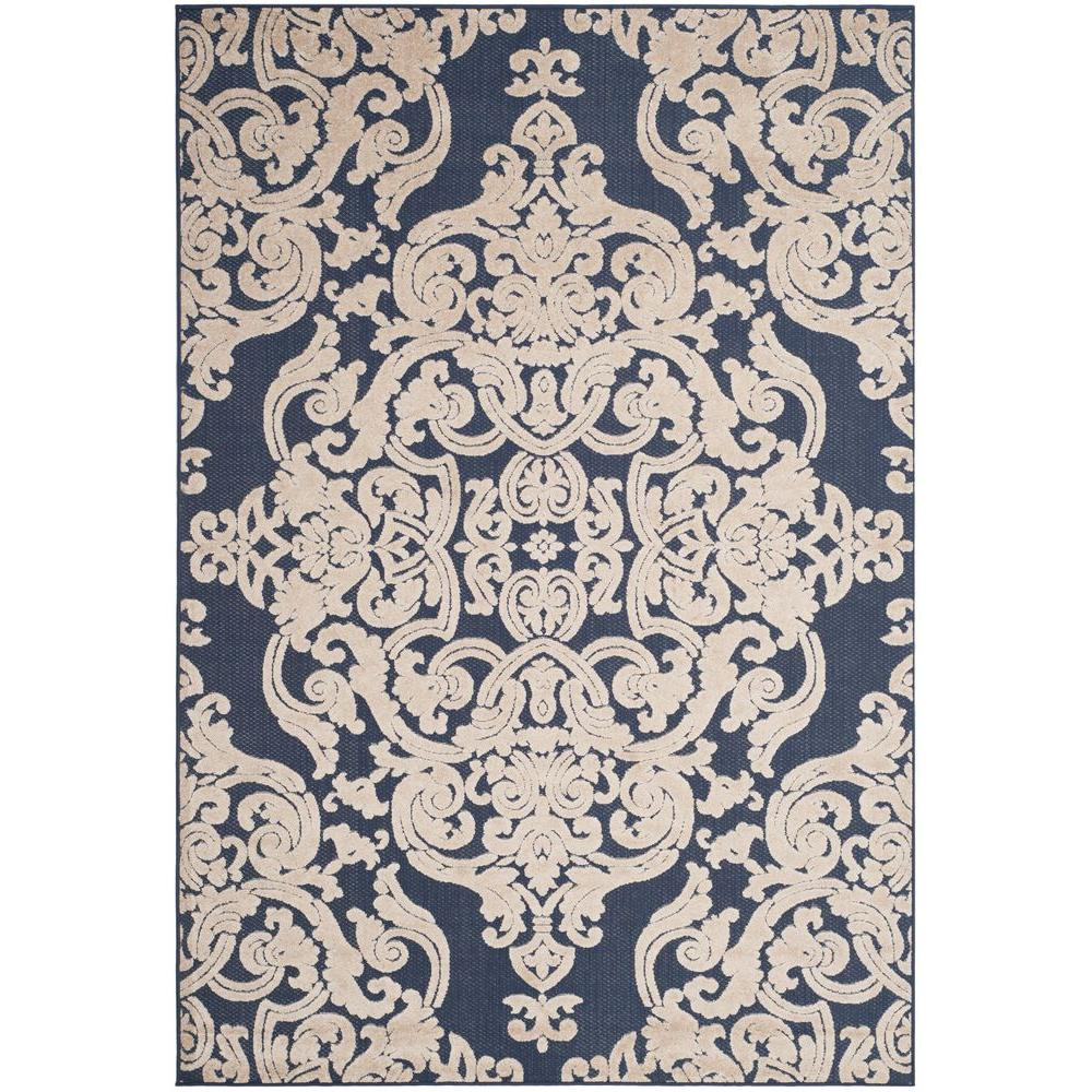 Safavieh Monroe Navy 9 Ft X 12 Ft Indoor Outdoor Area Rug Mnr152b 9 The Home Depot Area Rugs Inexpensive Area Rugs Indoor Outdoor Area Rugs