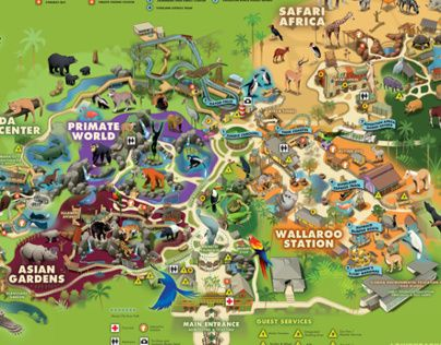 Lowry Park Zoo Map Lowry Park Zoo, Florida | Maps | Zoo map, Tampa zoo, Busch gardens