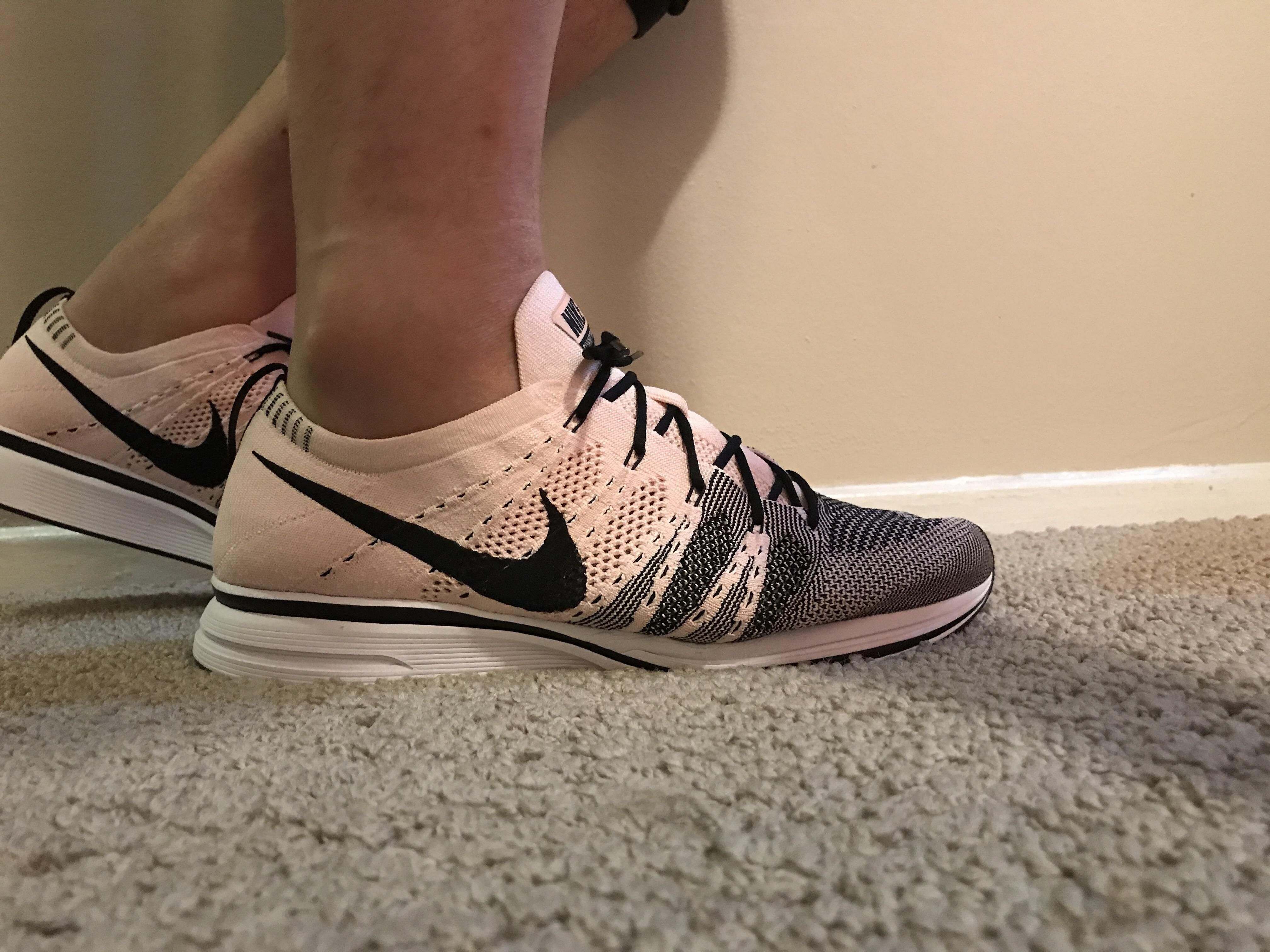 Nike Flyknit Trainer Sunset Tint with black laces  670c66f9a