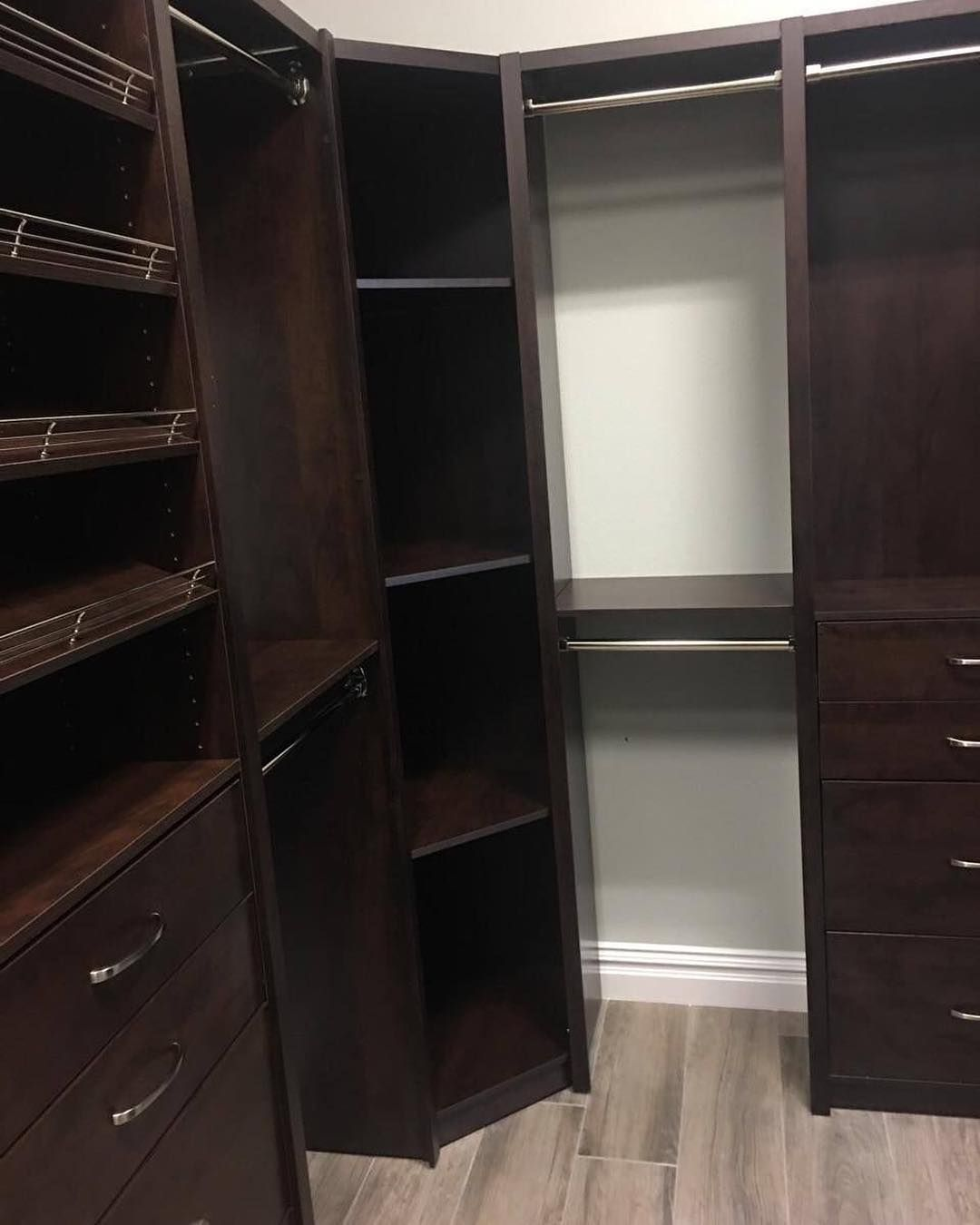 From Shoe Storage To Drawers A Corner Shelving Unit To Rods To Hang Clothes On And More This Custom Closet