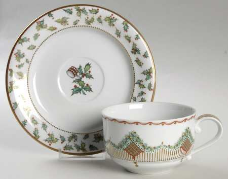 Breakfast Cup & Saucer Set in the Christmas Joy pattern by Royal Copenhagen