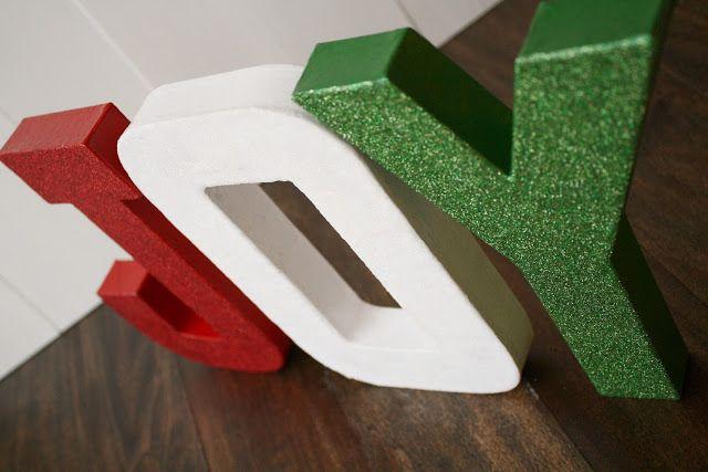 A Diamond In The Stuff Glitter Paper Mache Joy Lettersgreen