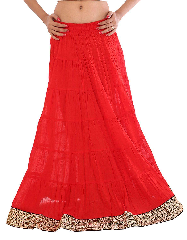 099b2a307 Long Maxi Cotton Skirts | Saddha