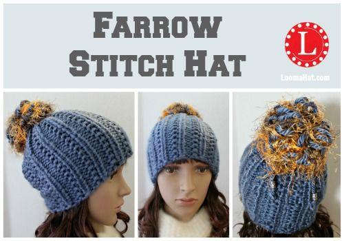 Loom Knit Farrow Stitch Hat Free Pattern And Video Loom Knitting