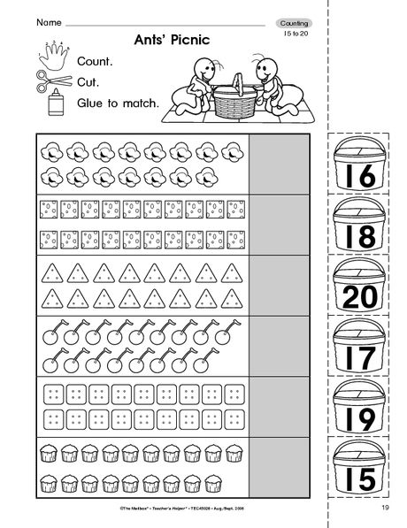Counting Objects To 20 Pensamiento Matematico Preescolar