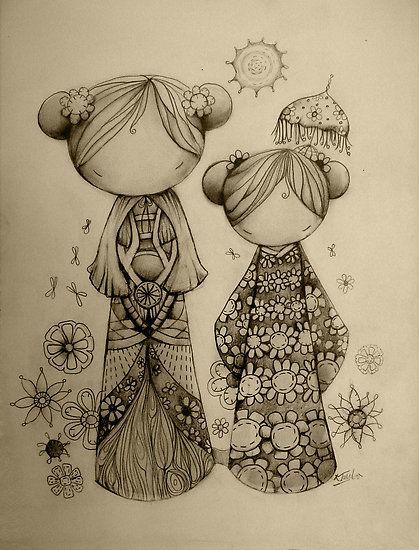 zen garden drawing