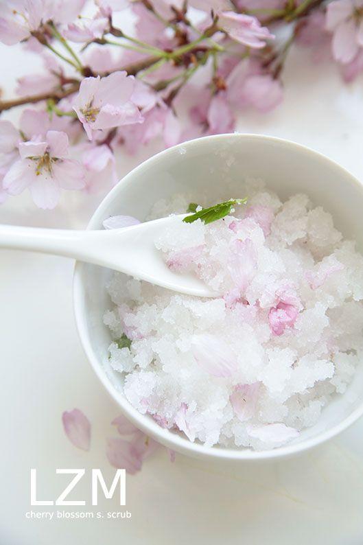 Diy Cherry Blossom Sugar Scrub Diy Sugar Scrub Recipe Sugar Scrub Diy Scrub Recipe Diy