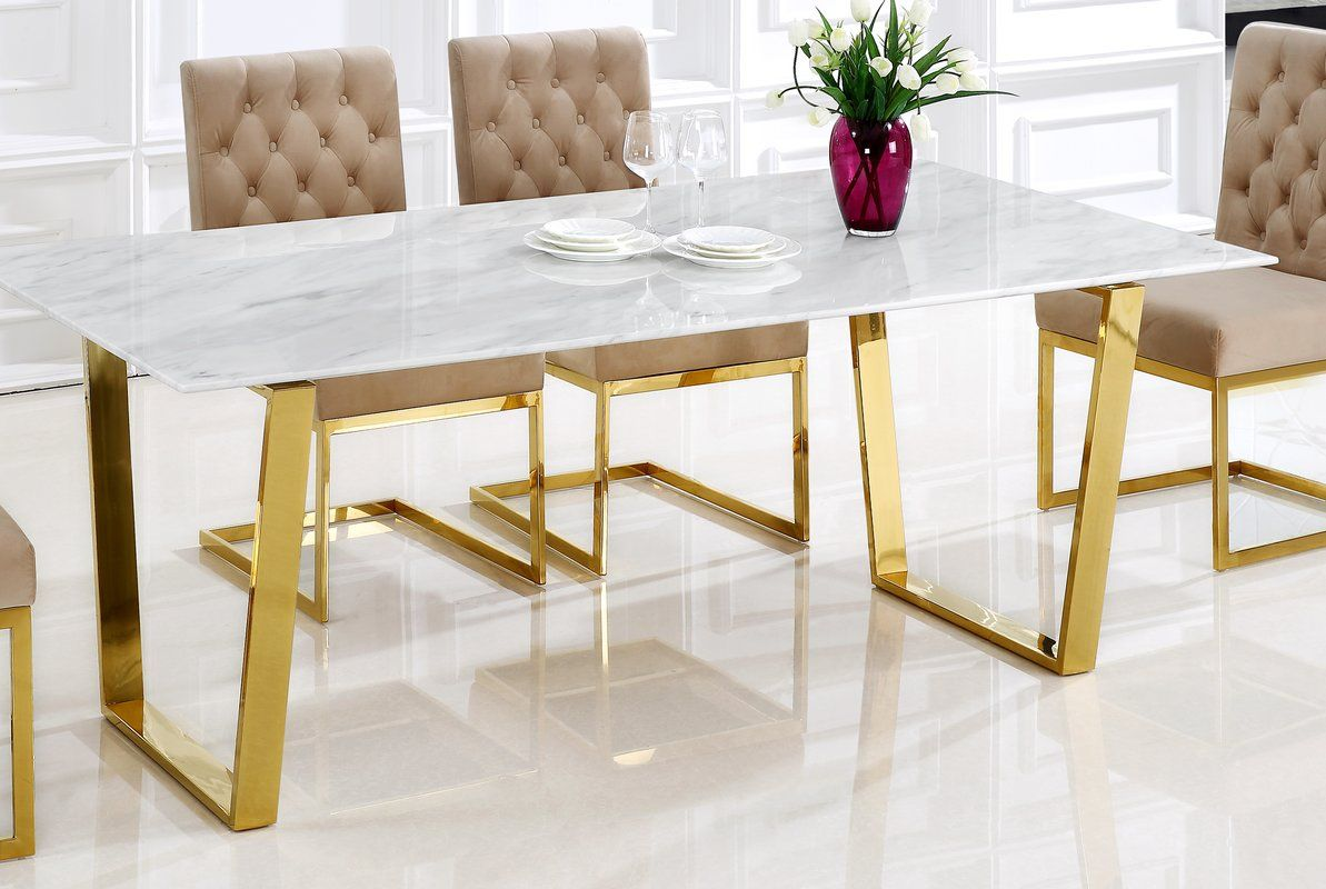 This Dining Table Features A Beautiful Contemporary Design This Dining Table Is Guaranteed To Be The Dining Table In Kitchen Dining Table Marble Marble Dining