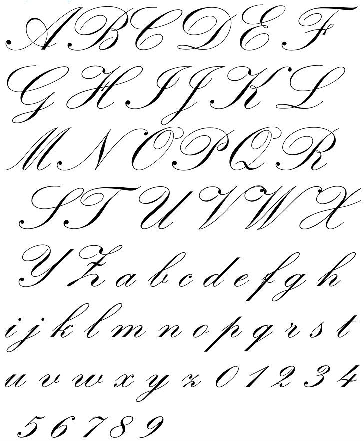 Baroque english calligraphy and fonts Roundhand calligraphy