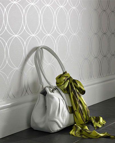 Darcy Pearl Circular Geometric Modern Wallcovering Gb57218d