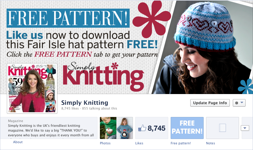 Like us on Facebook to download your free Fair Isle hat pattern ...