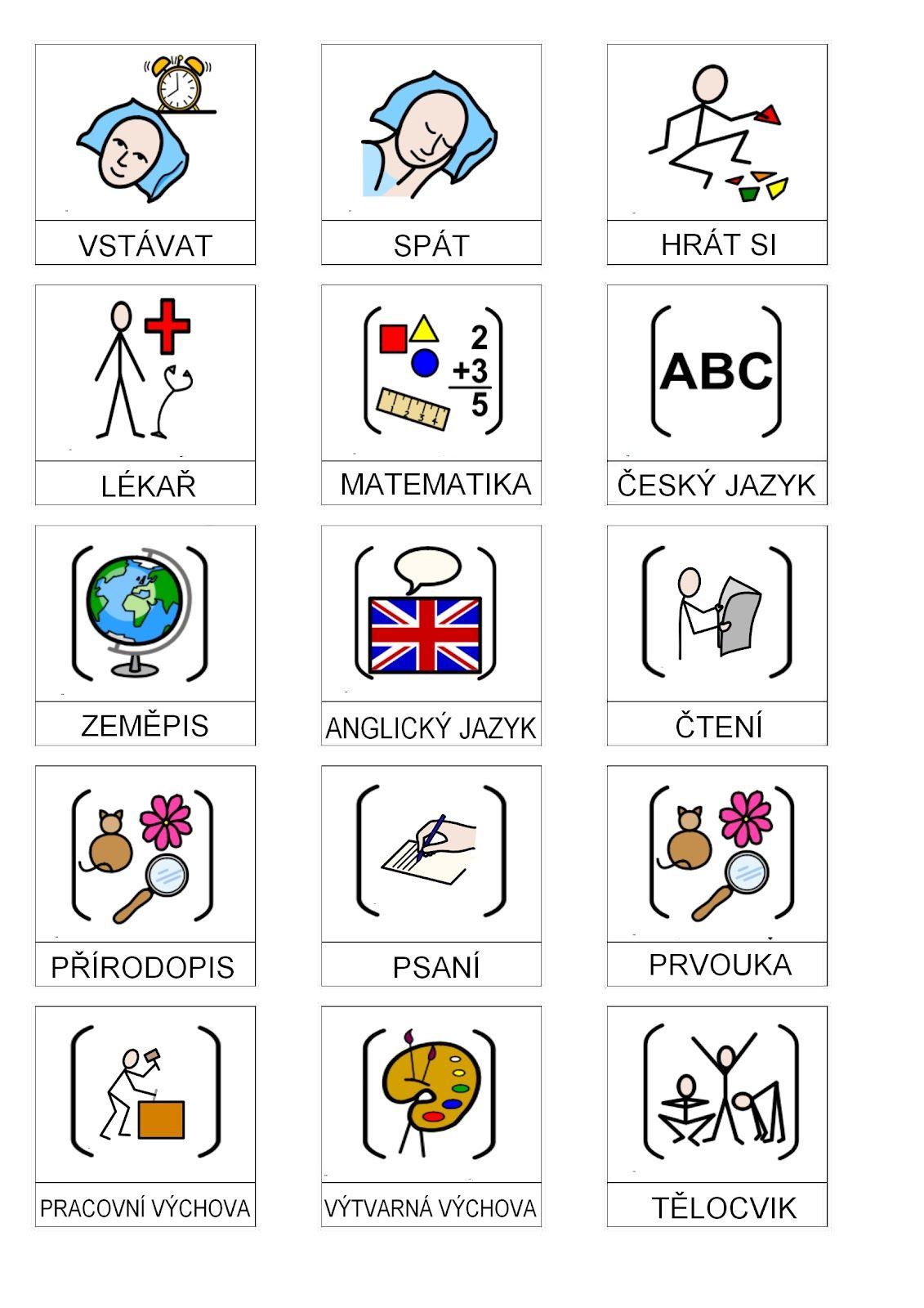 V Sledek Obrazku Pro Piktogramy Pro Autisty Kola