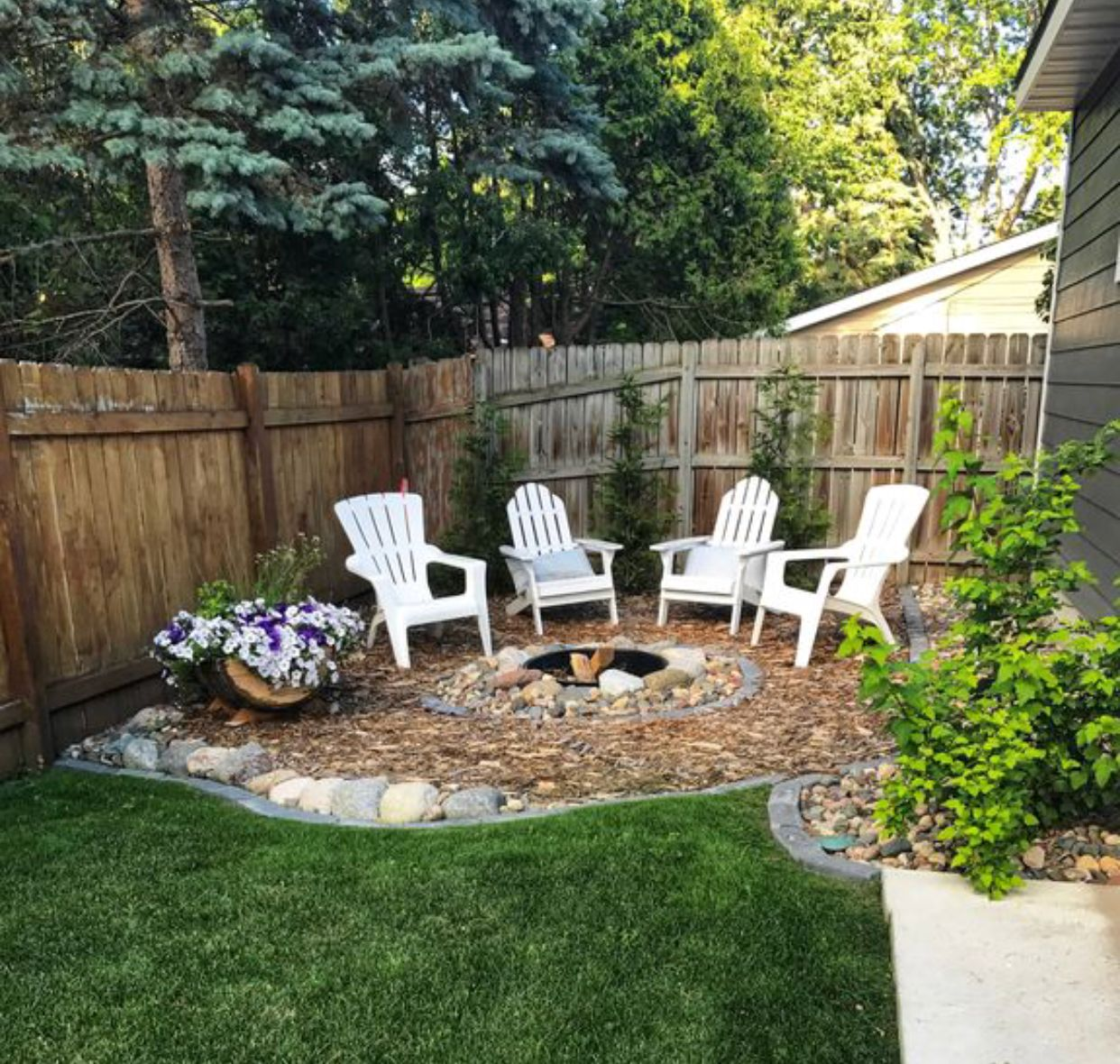 turn an unused corner in your yard into something on best large backyard ideas with attractive fire pit on a budget id=89681