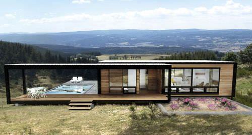 Maison modulaire / contemporaine / en métal / ossature métallique 5