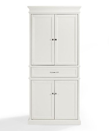 This is perfect if you don't have a large pantry - I did this in my last house. This White Parsons Pantry by Crosley is perfect! #zulilyfinds #largepantryideas