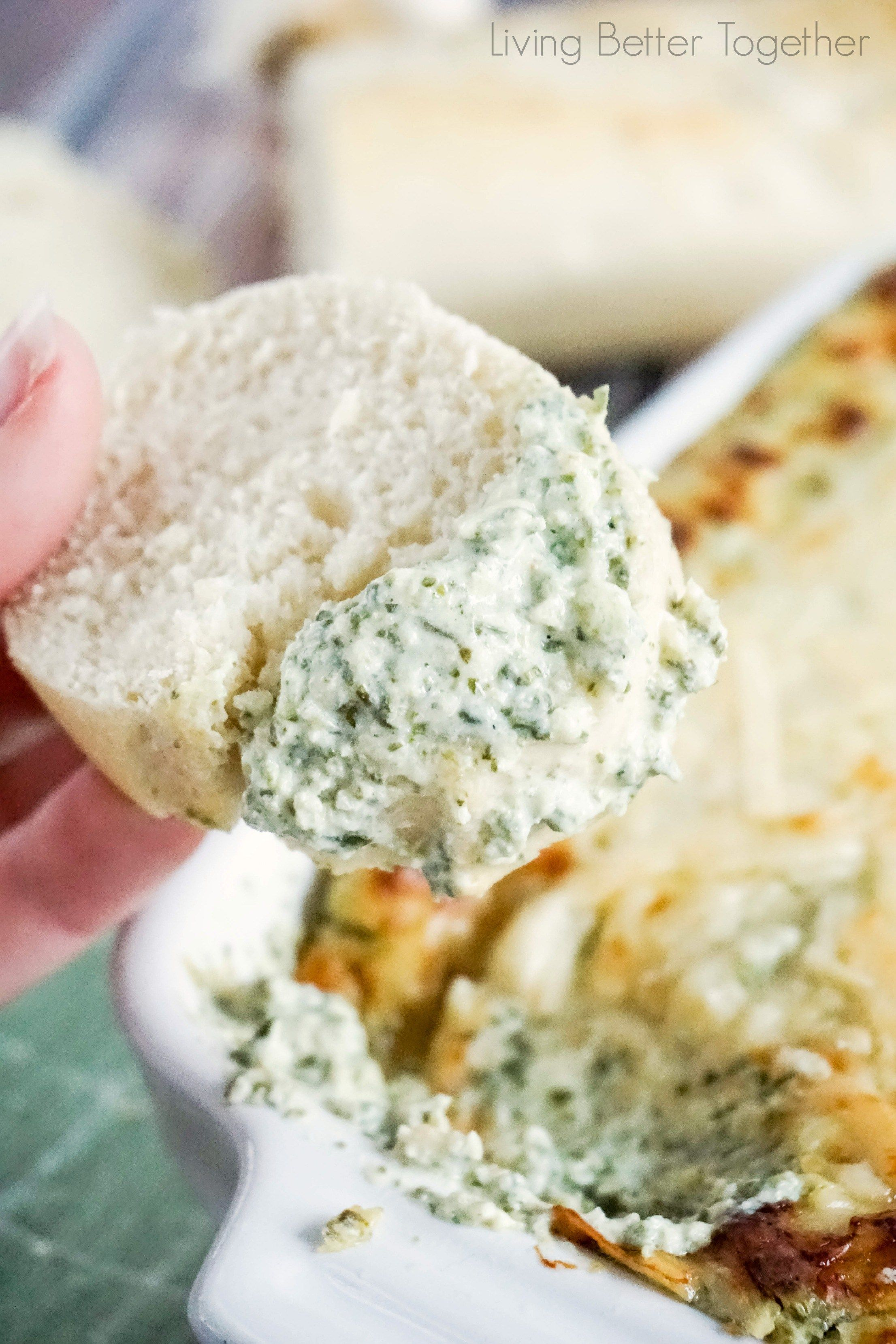 This Baked Spinach and Artichoke Dip is a must have at any party. With two different prep methods you can make it either hearty or creamy! Perfect for games days, new years, or family get togethers!