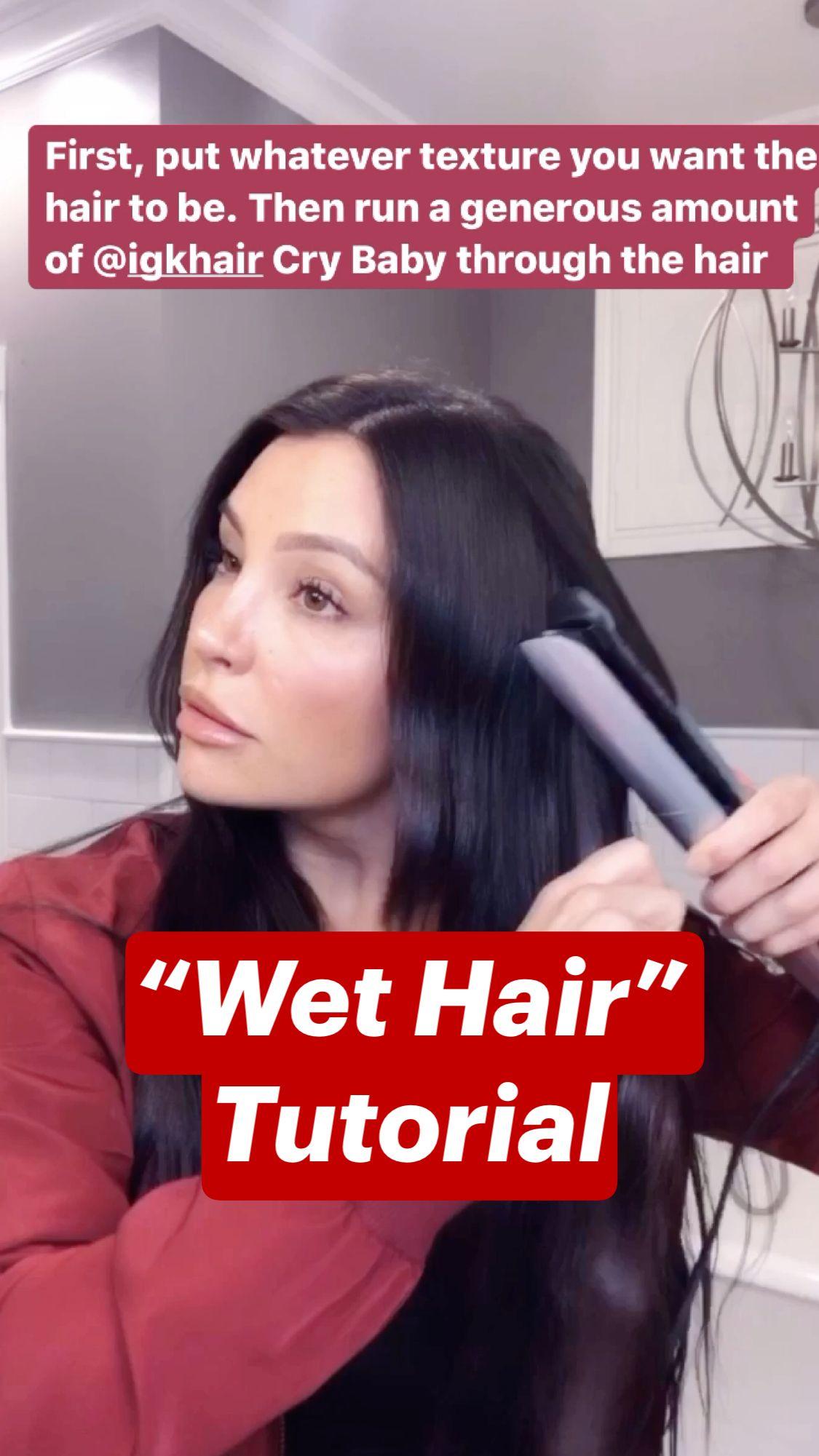 """""""Wet Hair"""" Tutorial"""