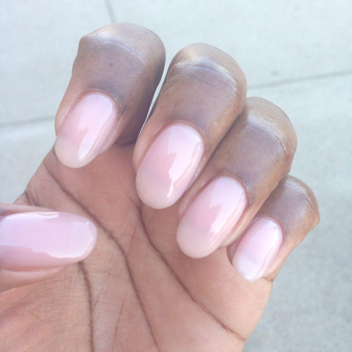 Natural oval gel nails   Girlie tińgs   Pinterest