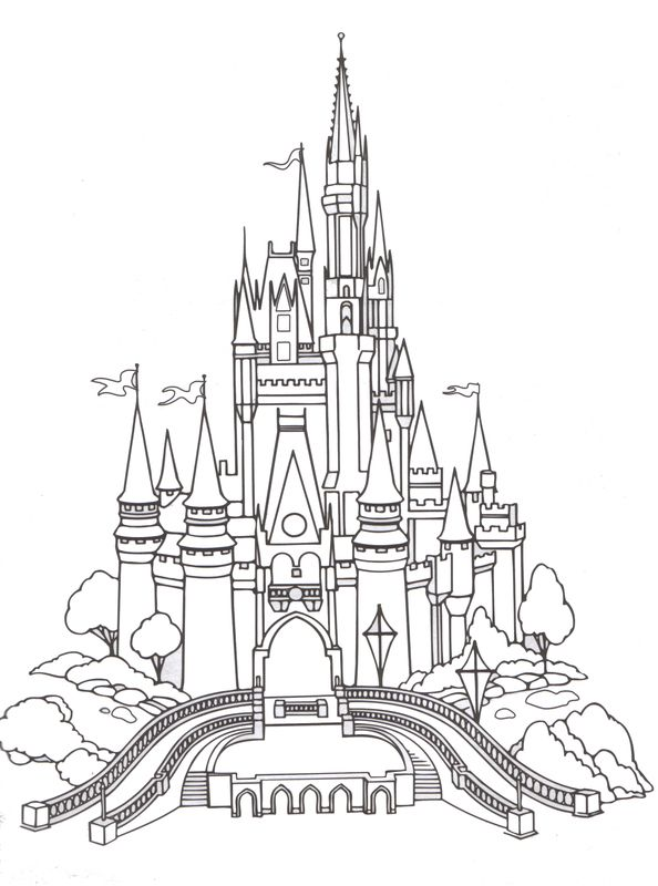 Magic Kingdom coloring page | Color me happy | Pinterest | Walt ...