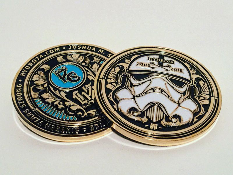 Hydro74 Business Card Coin V.2 | Business cards, Coins and Business