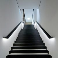 Black & White Illuminated Stairs Staircase