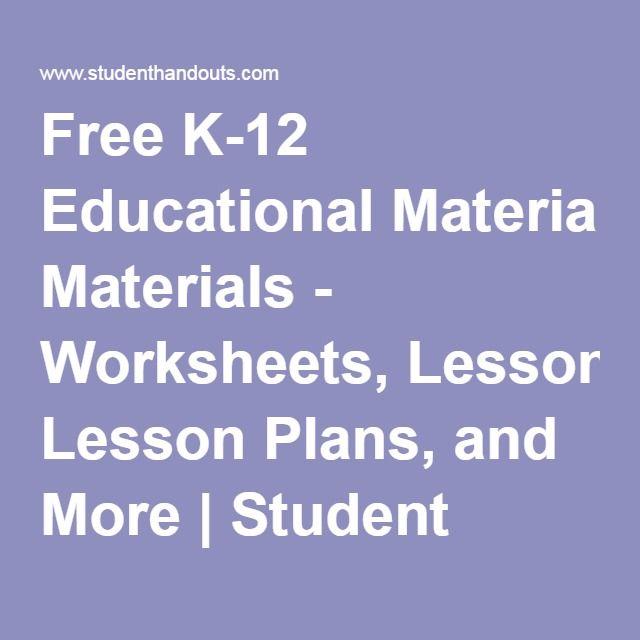 Free printables for k 12 education information