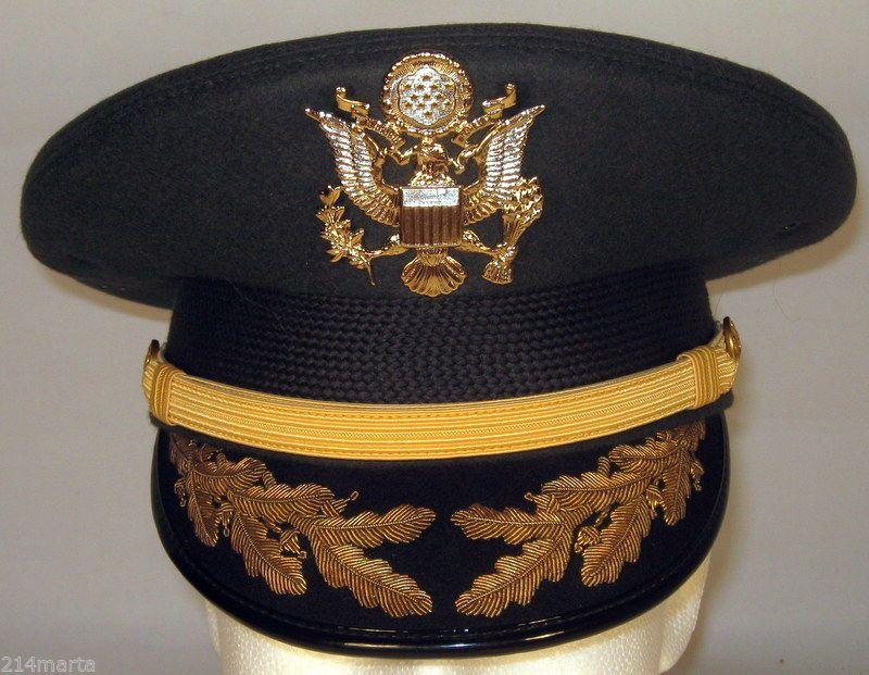 7226f08c2b27 US Army Field Grade Officer Service Dress Greens Hat Cap Bullion 6 3/4 or 54