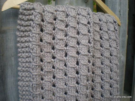 Chunky Lace Baby Blanket Knitting Pattern Pdf Pattern Knit Blanket