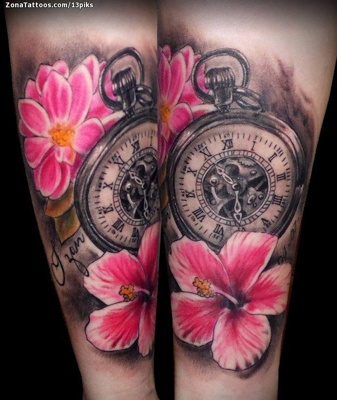 Tatuaje De Relojes Flores Tatuajes Tatuajes De Relojes
