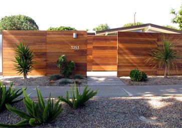 The Wood Is Redwood It Is A Standard Grade Tongue And Groove Board That Can Be Found At Home Depot Or Lowes Fence Design Modern Landscaping Modern Fence