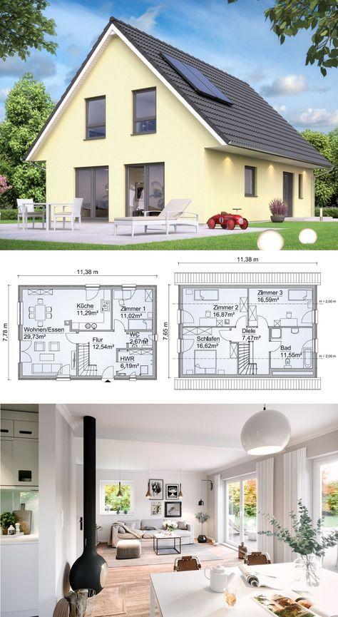 Modernes einfamilienhaus klassisch mit satteldach for Einfamilienhaus klassisch