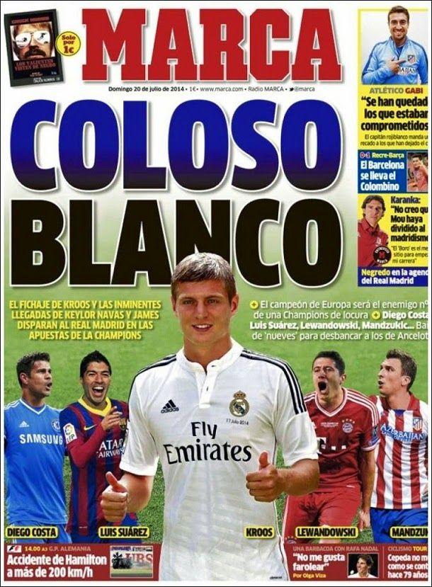 Toni Kroos en la portada de Marca, Espana