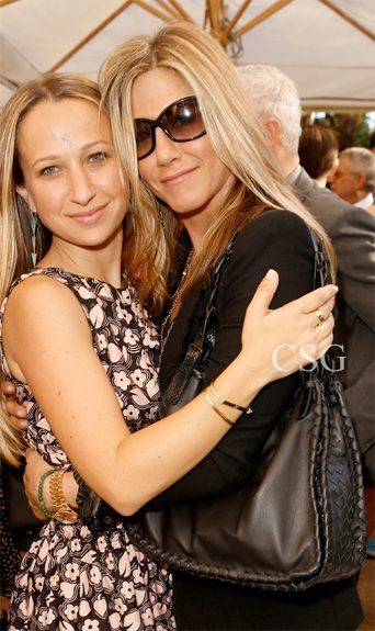 Jennifer Aniston carried this season's new must have bag, the Bottega Veneta Nero Nappa Ayers Bag at the 2012 CFDA/Vogue Fashion Fund Show held at the Chateau Marmont on Thursday (October 25) in West Hollywood, Calif.