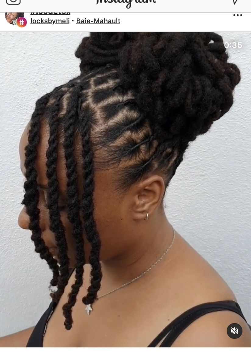 Pin By Shameka Henderson On Loc Photos In 2020 Short Locs Hairstyles Dreadlock Hairstyles Black Locs Hairstyles