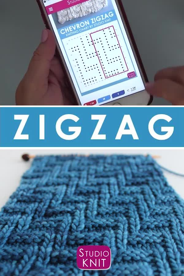 Photo of How to Knit the Diagonal Chevron Zigzag Knit Stitch Pattern