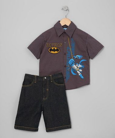 #Batman Button-Up from Kids With Character on #zulily