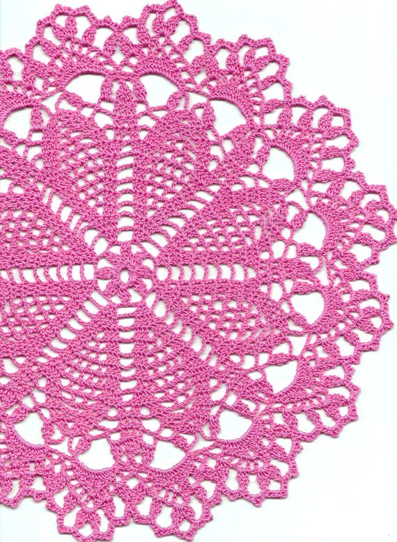 Crochet doily lace doily table decoration by faustapink900 on Etsy ...