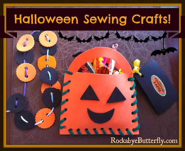 Halloween Sewing Crafts - Rockabye Butterfly Halloween Activities - halloween activities ideas