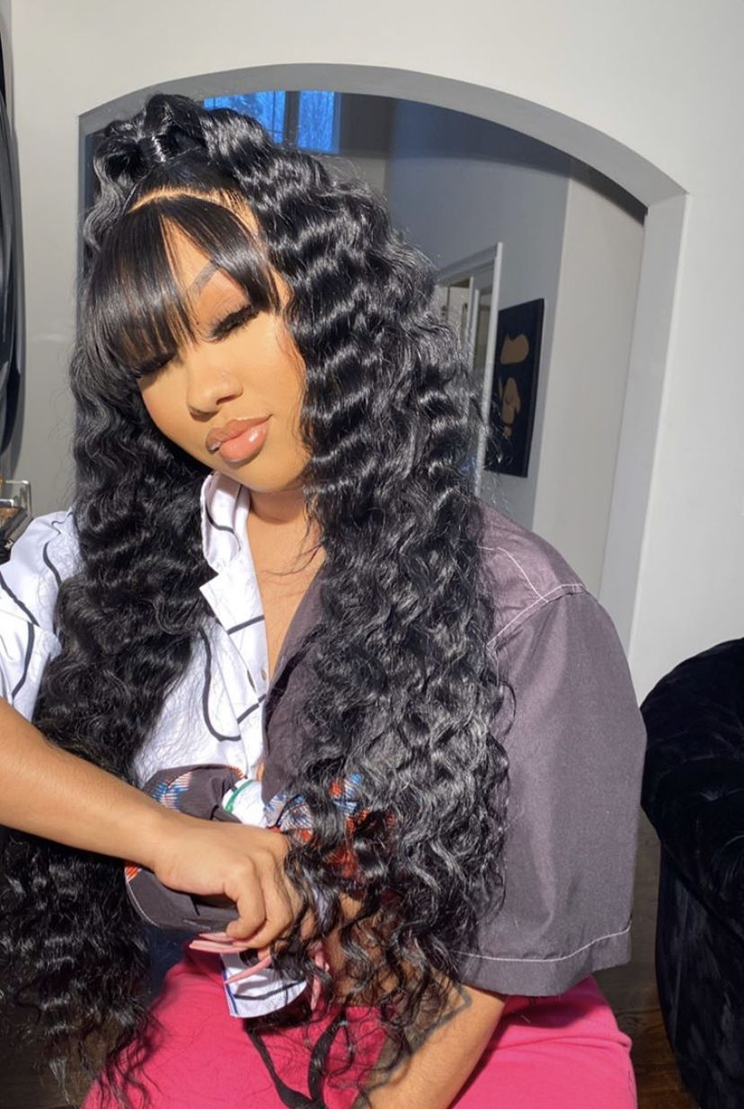 Cute Sew In Styles : styles, Pinterest:, @TRUUBEAUTYS💧#pinterestTruubeautys, Hairstyles, Medium, Hair,, Styles,, Weave, Ponytail