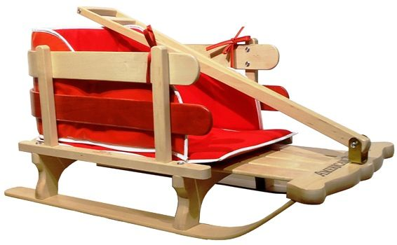 Made In Usa American Traders Baby Sled Red Pad