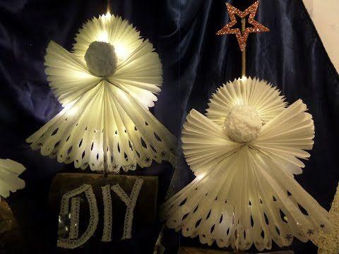 diy gro er stehender led engel aus butterbrotpapier basteln upsycling by kekaplauderei. Black Bedroom Furniture Sets. Home Design Ideas